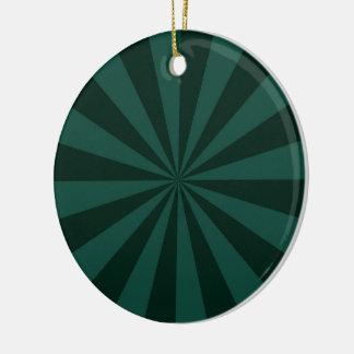 Sunbeams in Green Ornament