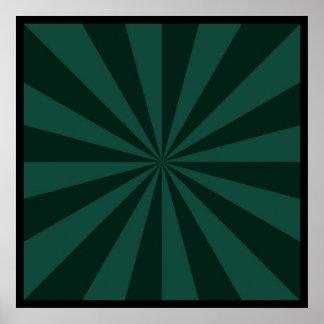 Sunbeams in Green  Poster