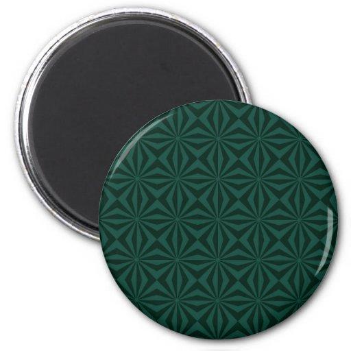Sunbeams in Green tiled Magnet