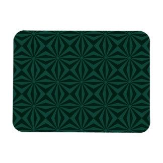 Sunbeams in Green tiled Rectangular Magnet