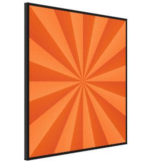 Sunbeams in Orange Canvas Print