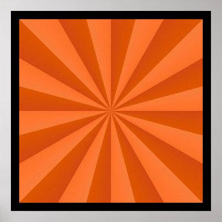 Sunbeams in Orange Poster