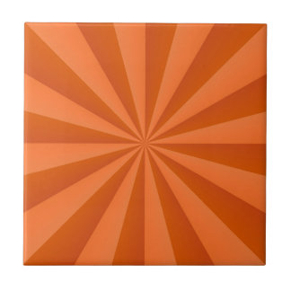 Sunbeams in Orange tile
