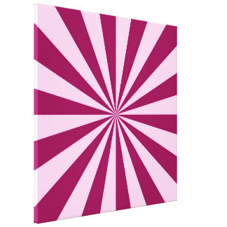 Sunbeams in Pink and Cerise Canvas Print
