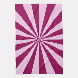 Sunbeams in Pink and Cerise Towels