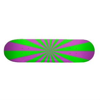 Sunbeams in Pink and Green Skateboard