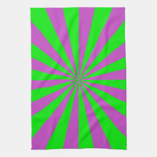 Sunbeams in Pink and Green Towels