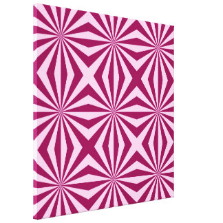 Sunbeams in shades of pink tiled Canvas Print