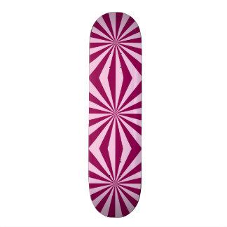 Sunbeams in shades of pink tiled Skateboard