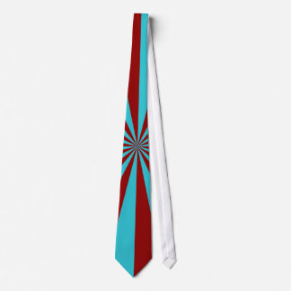 Sunbeams in Turquoise and Red Tie