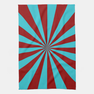 Sunbeams in Turquoise and Red Towels
