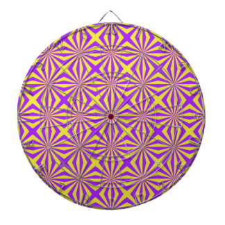 Sunbeams in Violet and Yellow Tiled Dartboard