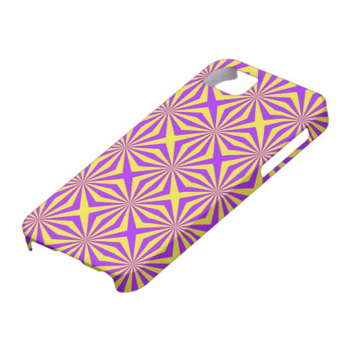 Sunbeams in Violet and Yellow Tiled iPhone 5 iPhone 5 Case