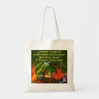 Sunbeams of Harmony Poetry Budget Tote Bag