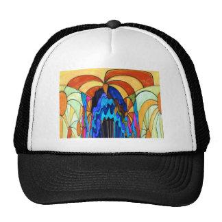 Sunbeams on the waterfall trucker hat