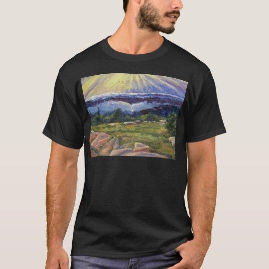 """Sunbeams Over Cadillac Mountain"" T-Shirt"