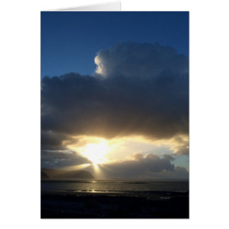Sunbeams over Conwy Card