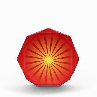 Sunbeams red stripes Octagonal Award
