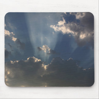 Sunbeams Shining Through The Clouds Mouse Pad