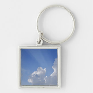 Sunbeams through Clouds, Val d'Orcia, Siena Keychain