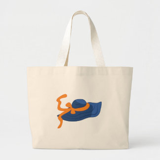 Sunbonnet azul bolsa tela grande