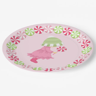Sunbonnet Girl and Peppermint Candy Paper Plate