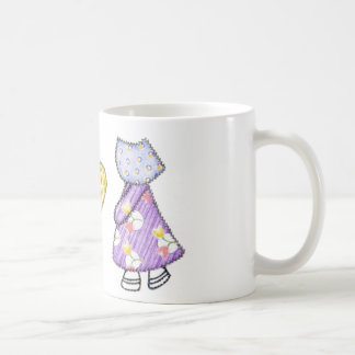 Sunbonnet Sue Quilting Motif Drawing Coffee Mug