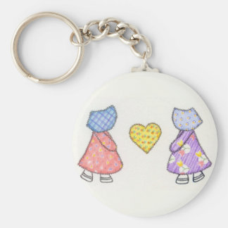 Sunbonnet Sue Quilting Motif Drawing Keychain