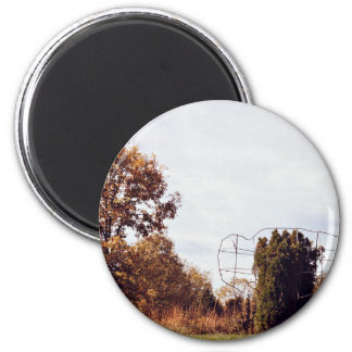 sunburn trees landscape 6 cm round magnet