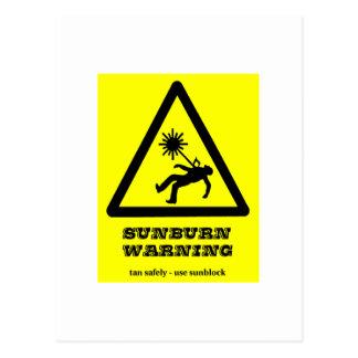Sunburn Warning Postcard