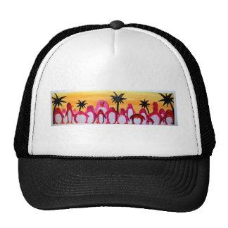 sunburned penguins trucker hat
