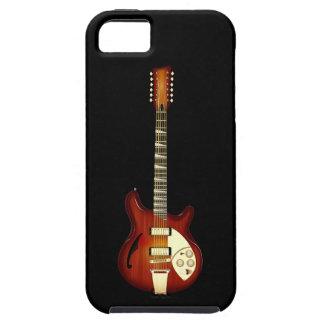 Sunburst 12 String Semi-hollow Guitar iPhone 5 Case