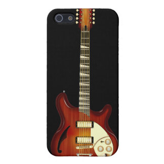 Sunburst 12 String Semi-hollow Guitar Covers For iPhone 5