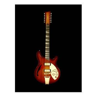 Sunburst 12 String Semi-hollow Guitar Postcard
