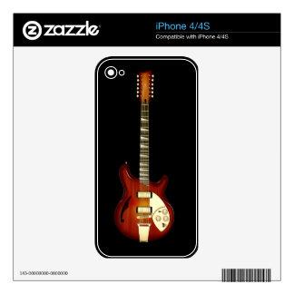 Sunburst 12 String Semi-hollow Guitar iPhone 4S Decal