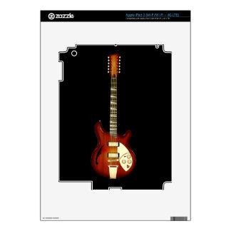 Sunburst 12 String Semi-hollow Guitar Skins For iPad 3