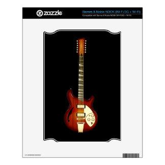 Sunburst 12 String Semi-hollow Guitar NOOK Decal