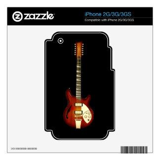 Sunburst 12 String Semi-hollow Guitar iPhone 3 Skins