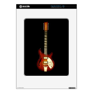 Sunburst 12 String Semi-hollow Guitar Decals For iPad