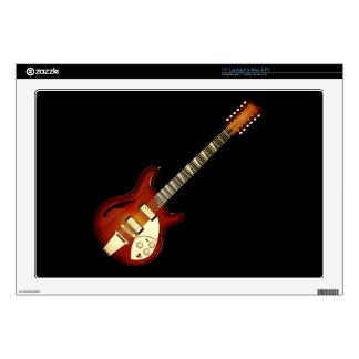 Sunburst 12 String Semi-hollow Guitar Laptop Decals