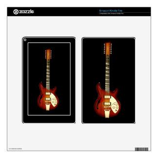 Sunburst 12 String Semi-hollow Guitar Skins For Kindle Fire