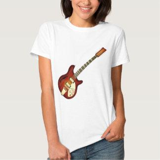 Sunburst 12 String Semi-hollow Guitar T Shirt