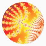 Sunburst 1.1 - Fractal Classic Round Sticker