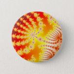 Sunburst 1.1 - Fractal Pinback Button