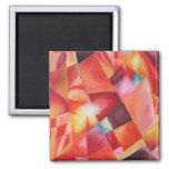 Sunburst 2 Inch Square Magnet