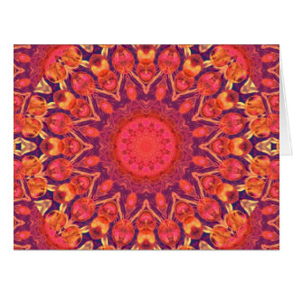 Sunburst, Abstract Mandala Star Circle Dance Cards