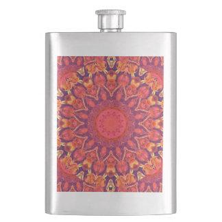 Sunburst, Abstract Mandala Star Circle Dance Flask