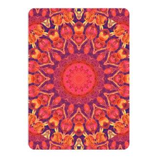 Sunburst, Abstract Mandala Star Circle Dance Custom Invitation Card