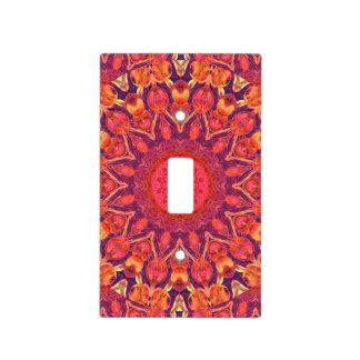 Sunburst, Abstract Mandala Star Circle Dance Light Switch Plates