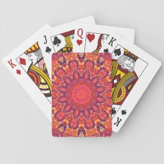 Sunburst, Abstract Mandala Star Circle Dance Playing Cards